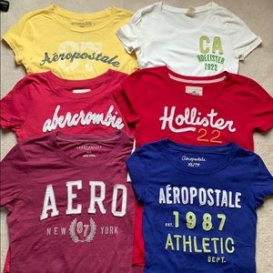 6 TEES LIKE FOR DISCOUNT! abercrombie hollister